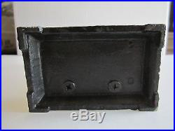 Vintage Black Americana Piggy Bank Cast Iron Heavy 8 1/2 Tall Ry-1