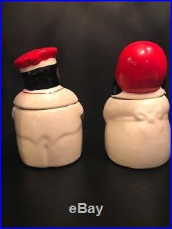 Vintage Black Americana Rebel Man And Mammy Mccoy Cookie Jars