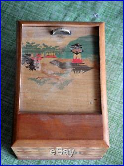 Vintage Black Americana Roll Top Cigarette Dispenser RARE