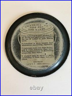Vintage Black Americana The Source of Cottolene Metal Tip Tray 4 1/4 dia