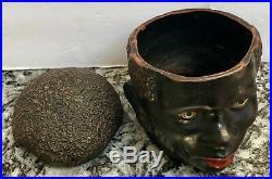 Vintage Black Americana / Tobacciana Black Mans Headtobacco Jarterra Cotta
