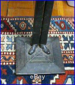 Vintage Black Butler Cast-iron Smoke Stand with Ashtray-36 Tall-Black Americana