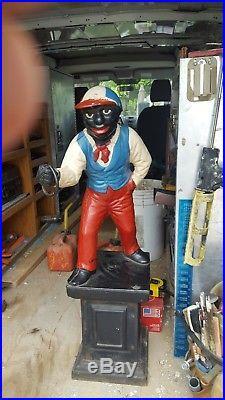 Vintage Black JockoLawn Jockey Door Stop