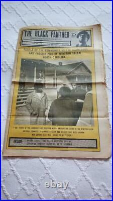 Vintage Black Panther Party Newspaper Vol IV, No 17 March 28, 1970
