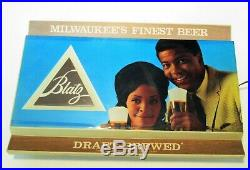 Vintage Blatz Beer Sign Electric Black Americana 1970's Milwaukee Light Working