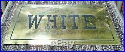 Vintage Brass-Coated Segregation Sign -White/Colored- African American