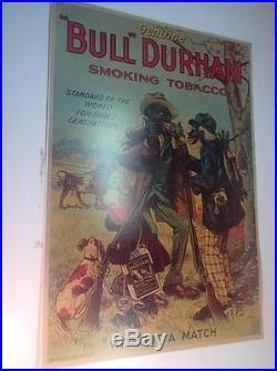Vintage Bull Durham Smoking Tobacco Black Americana Promotional Poster