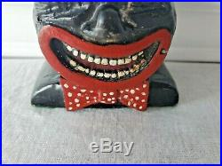 Vintage COON CHICKEN INN Metal Figural TOOTHPICK MATCH Holder Black Americana