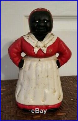 Vintage Cast Iron Antique Black Americana Bank Doorstop Hubley BeAuTiFuL