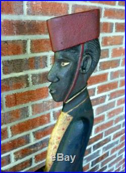 Vintage Cast Iron Bell Hop Black Americana ca. 1920 Original Paint 1920