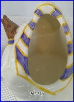 Vintage Clay Art Gospel Singer Cookie Jar Black Americana 1996 With Box