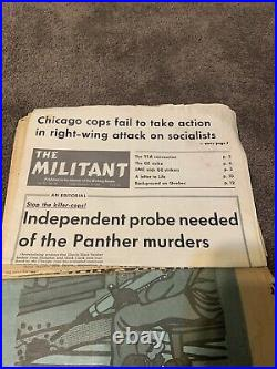 Vintage Collectible Historical Newspaper & Clippings Lot Black Panther Party