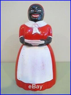 Vintage F&F Aunt Jemima Cookie Jar 11 x 7, Black Americana
