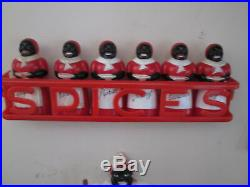 Vintage F & F Aunt Jemima Spice set with Red Spices Spice Rack