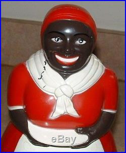 Vintage F & F Die Works Hard Plastic Aunt Jemima Cookie Jar