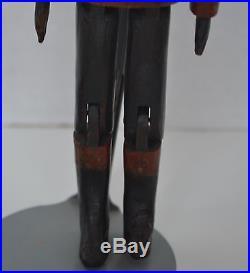Vintage FOLK ART Wood Dancing Doll BLACK AMERICANA Blue Ribbon 7 3/4 Raleigh NC