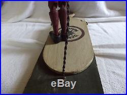 Vintage Folk Art Dancing Black Americana Wood Minstrel Jig Toy Collectible