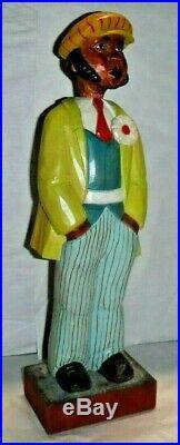 Vintage German Whistler Carved Nodder Automaton Karl Griesbaum Black Americana
