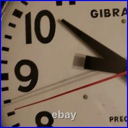 Vintage Gibraltar Wall Clock Dated December 1958 Running well circular
