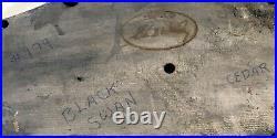 Vintage Hand Carved Cedar Wood, Black Swan Decoy Eli B. Wesley 23 inches