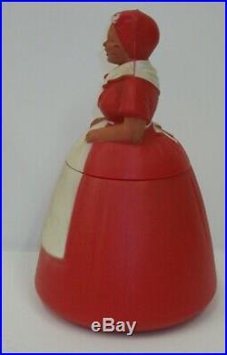 Vintage Hard Plastic Aunt Jemima's Cookie Jar Black Americana Kitchenware