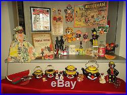 Vintage Huge LOT Black Americana Thame Clown Tea Chalkware Sambo Folk Art Jemima