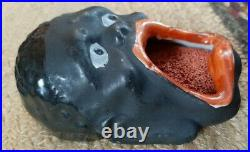 Vintage Japan Porcelain Stamp Moistener Wetter Black Americana Handpainted