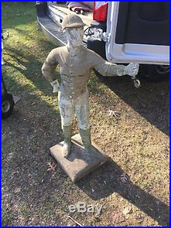Vintage LAWN JOCKEY 44 Statue Cavalier Pony Saratoga Concrete Jocko