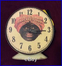 Vintage Lux Alarm Clock Art Deco Aunt Jemima Black