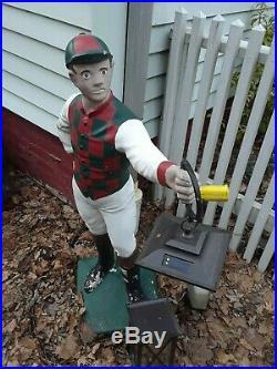 Vintage Lawn Jockey- C. 1954 Concrete Acme Co. Local Pick Up Only