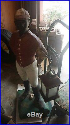 Vintage Lawn Jockey Statue Black Americana