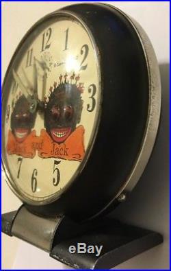 Vintage Mack And Jack Black Americana Advertising Clock