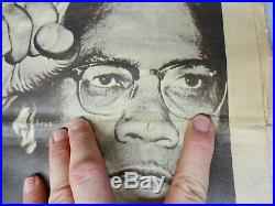 Vintage May 19, 1969 Black Panther Newspaper MALCOLM X Cover