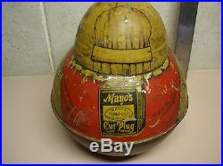 Vintage Mayo's Roly Poly Tobacco Tin Can Mammy Black Americana Advertising RARE