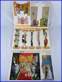 Vintage Miniature Paper Theater Antique Black Americana Collectible Toy Theatre