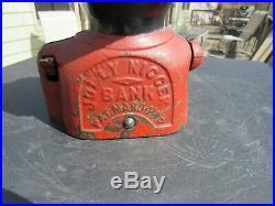 Vintage Original 1882 J. E. Stevens'jolly' Mechanical Bank Black Americana Nice