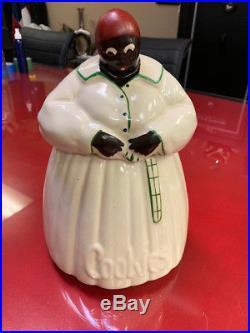 Vintage Original 1940's McCoy Aunt Jemima Black Americana Cookie Jar