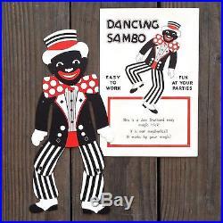 Vintage Original DANCING SAMBO BLACK AMERICANA Mechancial Moving Toy in Envelope