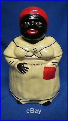 Vintage Pearl China Co Mammy Cookie Jar Black Americana