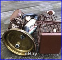Vintage Petite Choses Painted Brass Black Americana Blackamoor Figure Birdcage