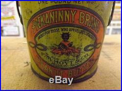 Vintage Pickaninny Peanut Butter Tin Black Americana