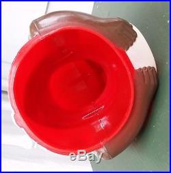 Vintage Plastic F&f Aunt Jemimia Cookie Jar With Rare Brown Face