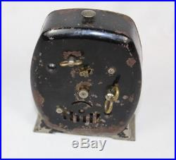 Vintage RARE Little Black Popeye DOEHLER Alarm Clock Black Americana WORKS