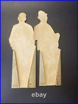 Vintage RARE Pepsodent Co Amos & Andy Black Americana Cardboard Stand up Figures