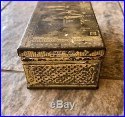 Vintage Rare The Diamond Match Co. Black Americana Tin Litho Box 1880s
