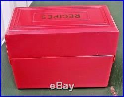 Vintage Red Plastic F&f Aunt Jemimia Recipe Box
