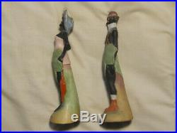 Vintage Schafer Vater Elongated Bisque Figure Mr. Adam and Mrs Eve
