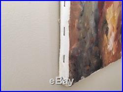 Vintage Seventies original Oil painting on Canvas/black man/African American