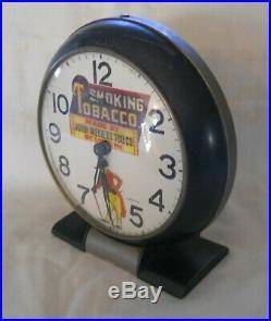 Vintage Smoking Tobacco Alarm Clock Black Americana / Memorabilia Sambo Cigar