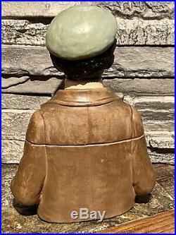 Vintage Tobacco Jar Black Americana Bernard Boch Johann Maresch Whiterabbit33